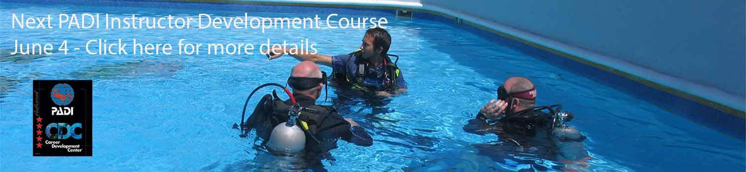 padi instructor development course vancouver, bc, canada